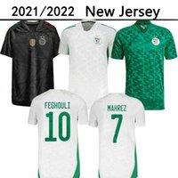 Cezayir 2021 Ev Beyaz Uzaktan Yeşil Siyah Futbol Formaları Mahrez Feghouli Bennacer ATAL Üçüncü 20 21 Cezayir Futbol Gömlek Erkekler Maillot De Ayak