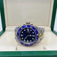Super BP Factory Watch 116613LB V7 ETA 2813 Movimento Automático Cerâmica Bezel Sapphire 40mm Discagem Azul 18k 116613 Mens Relógios