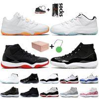 Sapatos Concord 11s Basquetebol 11 Zapatos Homens Sneakers Concord 45 Platinum Matiz Space Jam Gym Sapatilhas Homens Formadores
