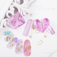 1Set Star Heart Round Square nail Metal Slice Heart Acrylic Bend Curve Making Model Pressed Mold Equipment Art Tools