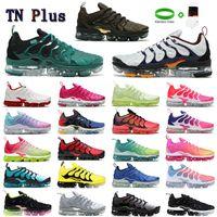 Nike Air VAPORMAX TN FLYKNIT shoes بيع تفضيلية TNS بلس الترا الجري الأحذية زيبرا الكلاسيكية في الهواء الطلق تشغيل tn وسادة الأحذية الرياضة صدمة عداء أحذية رياضية رجالي requin