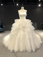 Other Wedding Dresses Vestido De Noiva Luxurious Snowflake Embroidery Bead Light Champagne Strapless Ball Gown Floor Length With Train