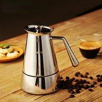Mocha pote de aço inoxidável portátil portátil panela de café comercial cafeteira italiana café cafeteira para casa