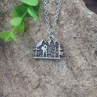 Pendant Necklaces HIKING Mountain COUPLE Wedding Necklace Backpacking Outdoor Jewelry