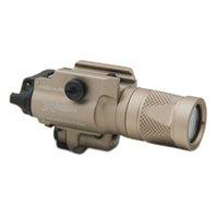 Neue SF X400V-IR-Taschenlampe Taktische LED-Gun-Light-Weiß-Licht und IR-Ausgang mit dunkler Erde der roten Laser