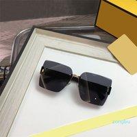 glasses Spring summer retro luxury designer sunglasses Men and women Beach mirror Frameless UV400 PC lens With box card Brand