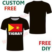 Tigry Free Custom männer T-shirt Flagge Emblem Streetwear Tigray Tigrinya Weibliche T-Shirts DIY Casual Stamm Ethnische Gruppe T-Stück Top X0602