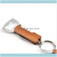 Kitchen Tools Kitchen, Dining Bar Home & Gardenbeer Wine Can Openers Bottle Opener Stainless Steel Wooden Handle Key Chain Knife Multi Funct
