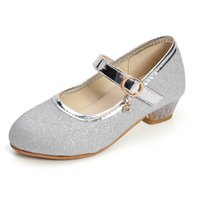 أحذية أطفال أحذية أطفال عارضة الفتيات اللباس عالية الكعب الحذاء ربيع الخريف أزياء الأميرة حزب الأطفال الأحذية الترتر B4672