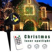 효과 야외 휴일 정원 장식 크리스마스 레이저 스포트 라이트 라이트 스타 프로젝터 샤워 원격 컨트롤러와 방수 IP65