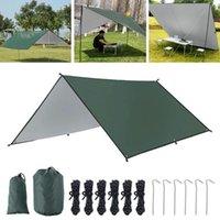 Tents And Shelters 3x3m Awning Waterproof Tarp Tent Shade Ultralight Garden Canopy Sunshade Outdoor Camping Hammock Rain Beach Sun Shelt