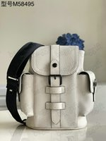 Christopher XS Mini Mens Bayan Tasarımcı Tek Omuz Çantaları Cüzdan Çanta Seyahat Çantası Tuval Deri Kılıf M58495