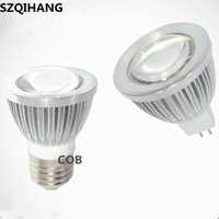Ampoules Dimmable LED Spotlight GU10 85-265V 3W 5W 7W 10W Lampe COB E27 220V 110V Spot Bougie MR16 12V Lumière