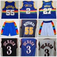 2021 الرجال المنخفضة بأسعار الرجعية كلاسيك كرة السلة جيرسي نيكولا # 132؛ 15 # 132؛ خمر خمر allen # 132؛ 3 # 132؛ إيفرسون السراويل تنفس الحجم S-2XL أزرق أبيض أسود