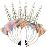 Kızlar Saç Aksesuarları Sopa Bantlar Çocuklar Çocuklar Için Bantlar Unicorn Gökkuşağı Parti Sevimli Pullu Aksesuar B5230