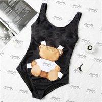 Carino stampa Bikinis Hipster imbottito Push Up Costumi da bagno da donna Bandaggio all'aperto Bandaggio Spiaggia in un pezzo Costume da bagno Interno Abbigliamento da bagno