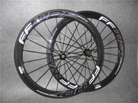Logo creux blanc F5R 700C 3K glossy 50mm FFWD roues de vélo de roues de vélo de roue avant avec 23 mm de largeur noire Novatec A271 hubs 11 vitesses