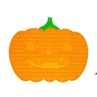 33 * 40cm Shape de citrouille de grande taille Fidget Toys Toys Halloween jeu Pioneer Push Puzzle Sensorial Anti Stress Bubbles Board FWB9213