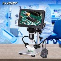 Teleskop Dürbün SVBONY SV604 LCD 7 inç Taşınabilir Mikroskop 1x-1200x Büyütme, Kablolu Uzaktan Kumanda, Kamera Video Kaydedici HD Scree ile
