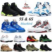 Männer Basketballschuhe Jumpman 2021 Carmine 6s UNC FIRE rot schwarzer Katze 5s Bluebird Ringbull Stealth Mens Trainer Sport Sneakers Größe 7-13