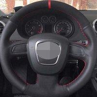 Крышка рулевого колеса автомобиля для Audi A5 2008-2010 A3 (8p) 2008-2010 A3 (8P) 2008-2013 A6 (C6) A4 (B8) 2008-2010 DIY мягкая натуральная кожаная замша