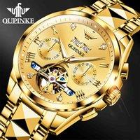 디자이너 럭셔리 브랜드 시계 40mm 골드 남성 기계식 ES 50M 방수 상단 사파이어 유리 스테인레스 스틸 비즈니스