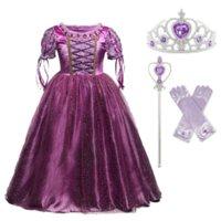 Abbigliamento per bambini Cenerentola Cosplay Principessa Costume Bambini Fancy Christens Abiti Viola