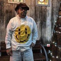 Männer Frauen Pullover Japanische Mode Kapital Mit Kapuze Reine Baumwolle Gestrickte Pullover Großer Lächeln Gesicht Mantel Herbst und Winter