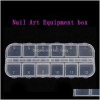 Equipment Nail art Decorations Aufbewahrungsbox Edelsteine Glitzer leer Rec Case Organizer Rhinestones Perlen Scheiben Fächer Container IV0PE UFVA7
