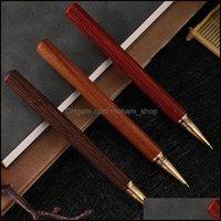Ballpoint Writing Business & Industrialballpoint Pens Luxury Brass + Wood Gold Metal Sandalwood Pen Office School Supplies Stationery Signin