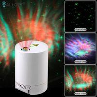 Ночные огни Galaxy Starry Sky Projection легкий прикроватный светильник Интеллектуальный светодиодный вращающийся мечта звездный коридор ванная комната