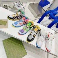 Hommes Femmes Demetra High Tops Casual Sport Chaussures Mode Femme Semelle Caoutchouc Sneakers Top Designer Luxurys Couples Entraîneurs Runners Shoe avec boîte taille 35-45