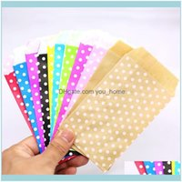 Wrap Event Festive Supplies Home & Gardenmini Dot Kraft Bags , Wedding Party Invitation Greeting Cards Paper Gift Bag 25Pcs Lot Drop Deliver