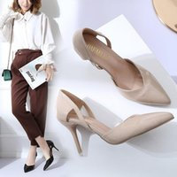 Sandals Summer Women Shoes Pointed Toe Pumps Dress High Heels Boat Wedding Tenis Feminino Side With Party Zapatos Mujer