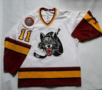 Vintage #11 Steve Maltais Chicago Wolves Bauer Ice Hockey Jersey Mens Stitched Custom any number and name