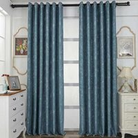 Curtain & Drapes Modern Simple Pure Color Printing Jacquard Blackout Customized Products Curtains For Living Room Bedroom