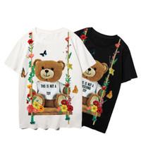 Moschino Mode Hommes T-shirt Été Summer Sleeve Tops T-shirt T-shirt Hommes Femmes Tees Tees Couples Haute Qualité Vêtements décontractés Grande taille 14