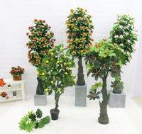 Fleurs décoratives couronnes artificielles geely pingan fruit arbre orange grenade pomme décoration vacances bonsaï fausse plantes fausse verdure