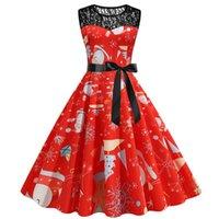 Casual Dresses Women Christmas Sleeveless Lace 1950s Housewife Evening Party Prom Vintage Elegant Dress Vestido Feminino 2021 #8