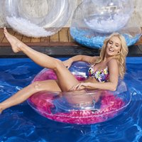 Beach Swim Circle Float Gonfiabili Water Pool Party Inflatable Swimming Ring Baby Round Feather Sequins Rings 1705 Z2