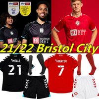 Robins 2021 2022 Bristol Şehir Futbol Formaları FC Uzakta Siyah Paterson Wells Semenyo Martin Weimann Futbol Gömlek 21/22 Awson Kalas Massengo Erkekler + Çocuk Kiti Üniformaları