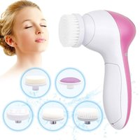 Face Cleaning Tools 5 in 1 Multifunction Electric Facial Cleansing Brush Skin Care Massage device with different replacement head