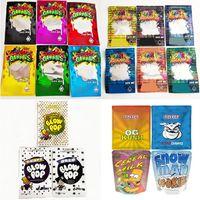 New Dank Gummies Mylar Packing Bag Edibles Retail packaging 6 styles Smell Proof Bagg Zipper snow cake Mylars Bags Dry Flower Package