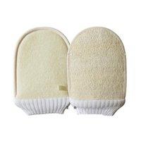 Natürliche LOOFAH Badehandschuhe Bürsten Weiche Peeling Doppelseitiges Bad Wischkörper Reinigung Massagebürste DHB7226