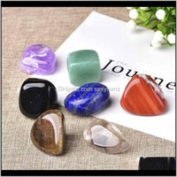 Rock Crystal Quartz Natural Seven 7Colors Set Yoga Chakra Irregular Reiki Healing Crystals Stone Polished Individual Stones Com Qylnpj Nyzxe