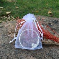 100шт ювелирные изделия мешочки органза свадебный подарок рождественские услуги сумки 9x12cm 63 n2