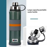 Water Bottles 1000ml Large-capacity Sports Insulated Cup With 316 Stainless Steel Inner Tank For 24 Hours Handle And Lid Outdoor