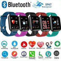 ID 116Plus Armband Smart Bands Armband Bunte Bildschirm Fitness Tracker Schrittzähler Herzfrequenz Blutdruck Gesundheitswesen D13