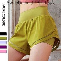 4 Inseam Loose Sports Hotty Hot Yoga Shorts Anti-exposure Quick-drying Woven Fake Two-piece Short Fitness Gym Clothes Women