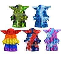 Große Größe Zappeln Spielzeug Regenbogen Push It Bubble Stress Relief Spielzeug für Kinder Geschenke Weiche Reliever Squeeze